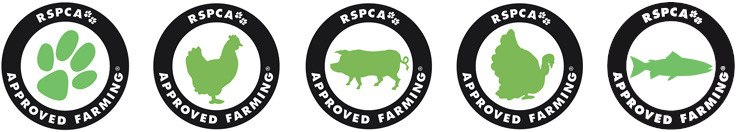RSPCA Approved Farming Logos